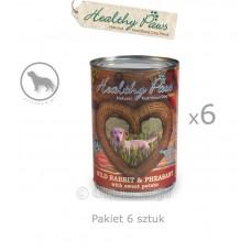 Healthy Paws dziki królik i bażant pakiet 400 g x 6 sztuk