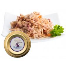 NUEVO Cat Delicate Filet z indyka z wołowiną tacka 85 g